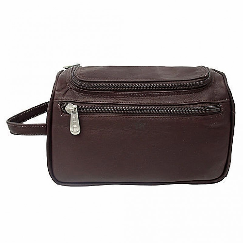 Piel Leather U-Zip Toiletry Kit