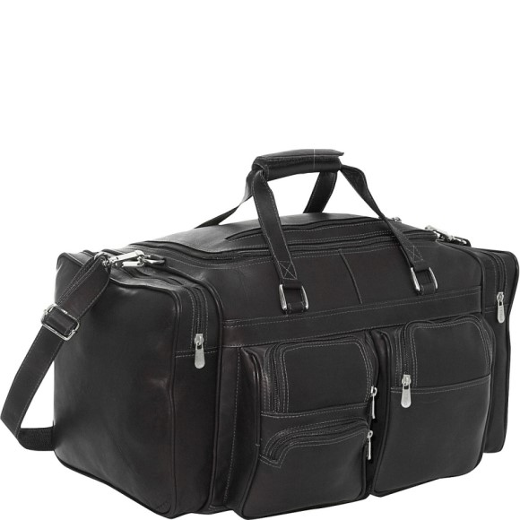 Piel Leather Carry-on Duffel Bag with Pockets
