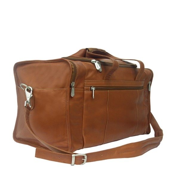 Piel Leather Travel Duffle with Side Pocket