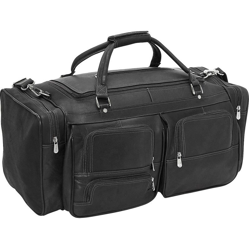 "Piel Leather 24"" Duffel with Pockets"