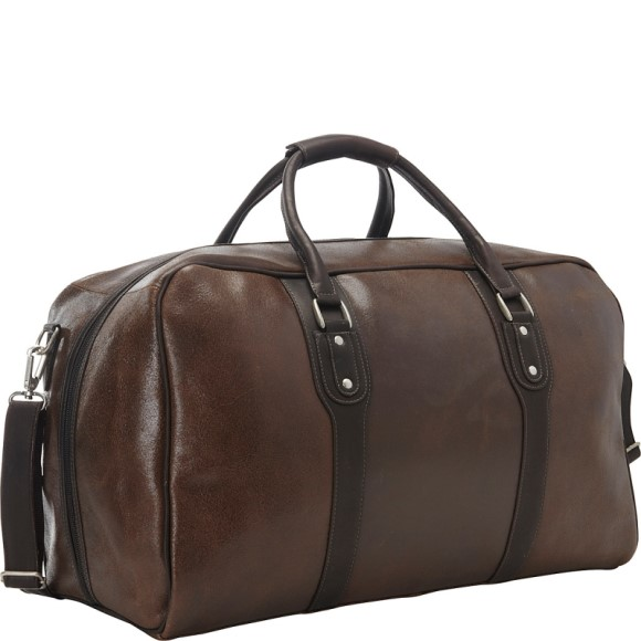 Piel Vintage Leather Weekender Duffel