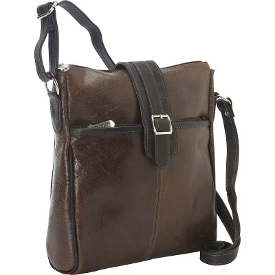 Piel Vintage Leather Slim Tablet Shoulder Bag