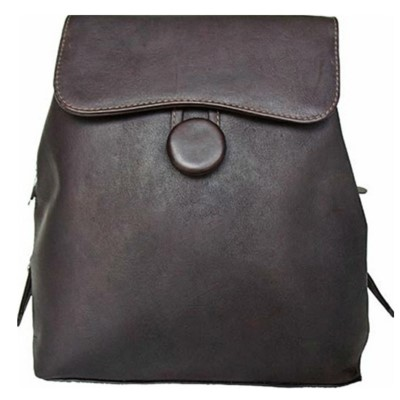 Piel Leather Flap-Over Button Backpack