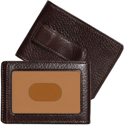 Boconi Tyler Tumbled Rock Solid 2 Fold Money Clip