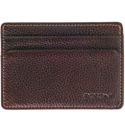 Boconi Tyler Tumbled Rock Solid RFID ID Card Case